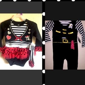 NWT 12 M old pirate outfits